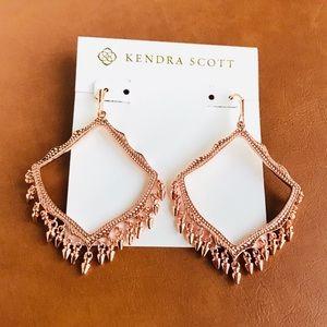 Kendra Scott Lacy rose gold earrings